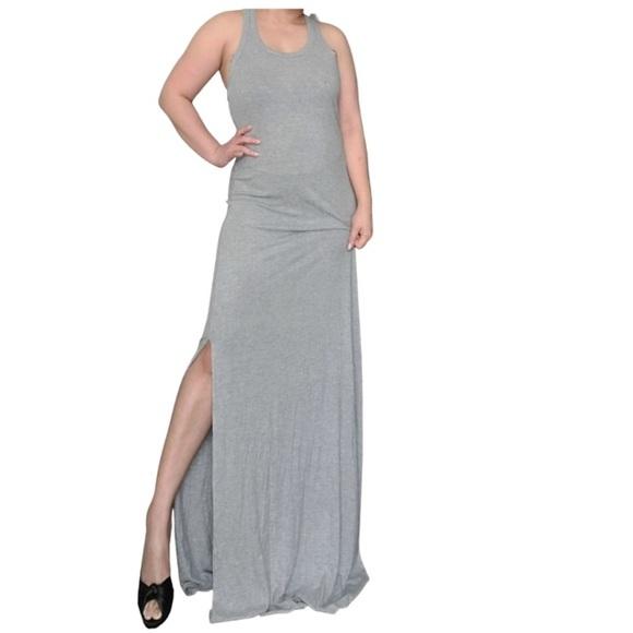 Chelsea28 Sleeveless Racerback Maxi Dress Gray